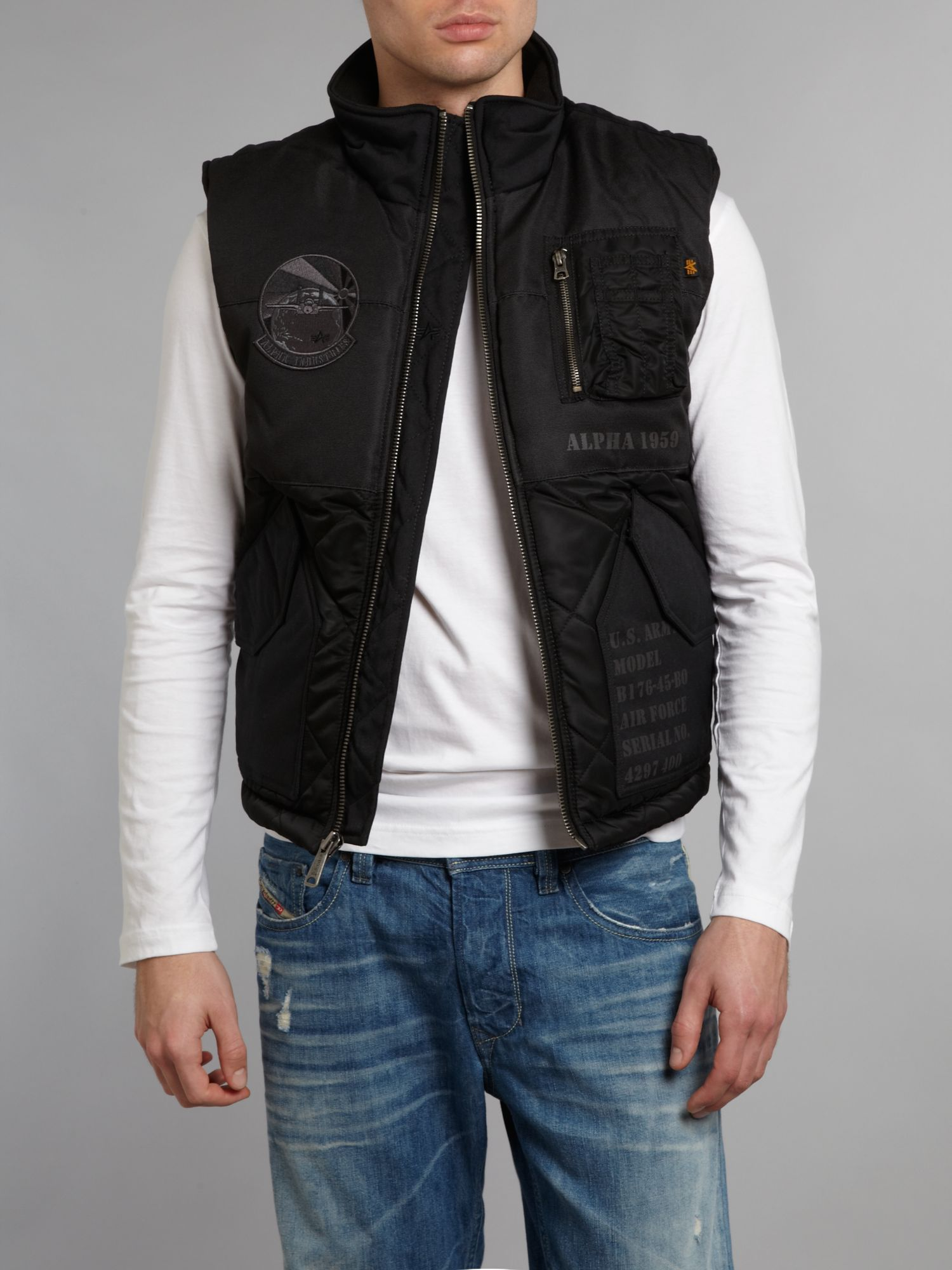 Air force quilted vest