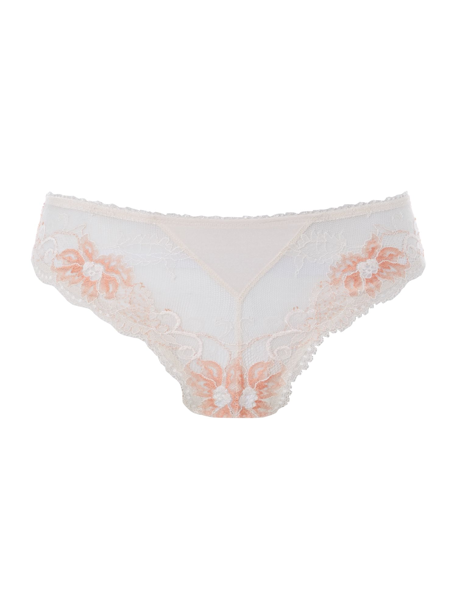 Elegance tonal lace brief