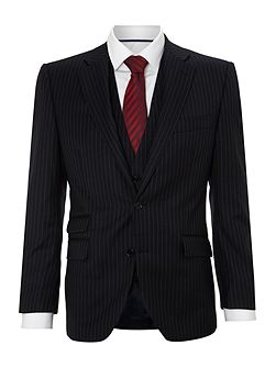Garth widestripe suit jacket with ticket pocket