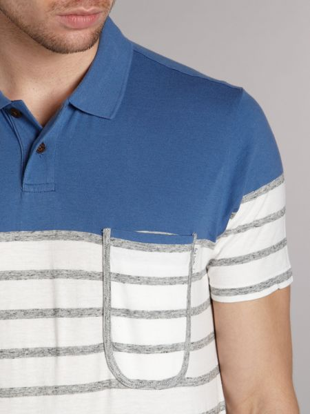 Paul Smith Jeans Contrast striped polo shirt