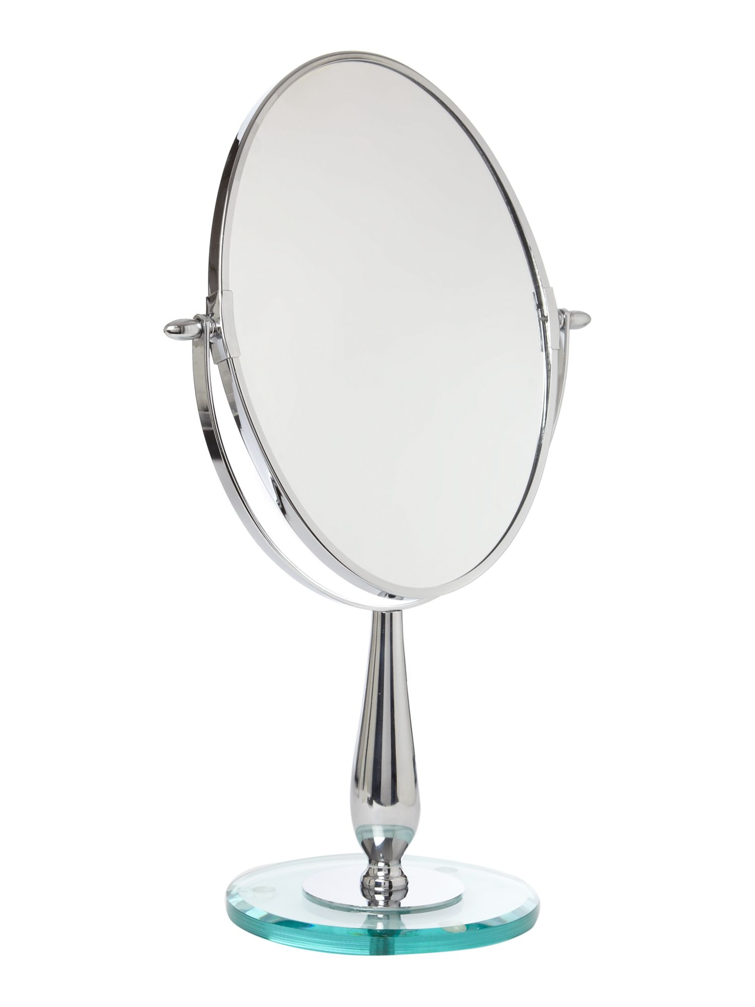 Linea Large Oval Mirror With Glass Base Oval Bathroom Mirrors