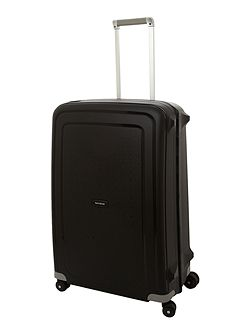 S`Cure black 8 wheel 75cm large suitcase