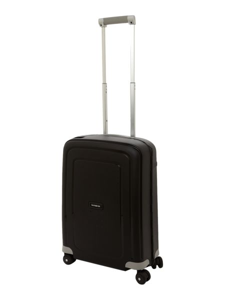 Samsonite S`Cure black 8 wheel 55cm cabin suitcase