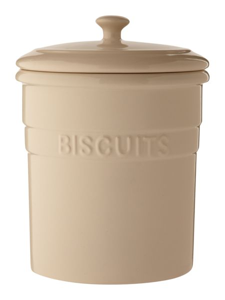 Linea Maison biscuit jar, cream