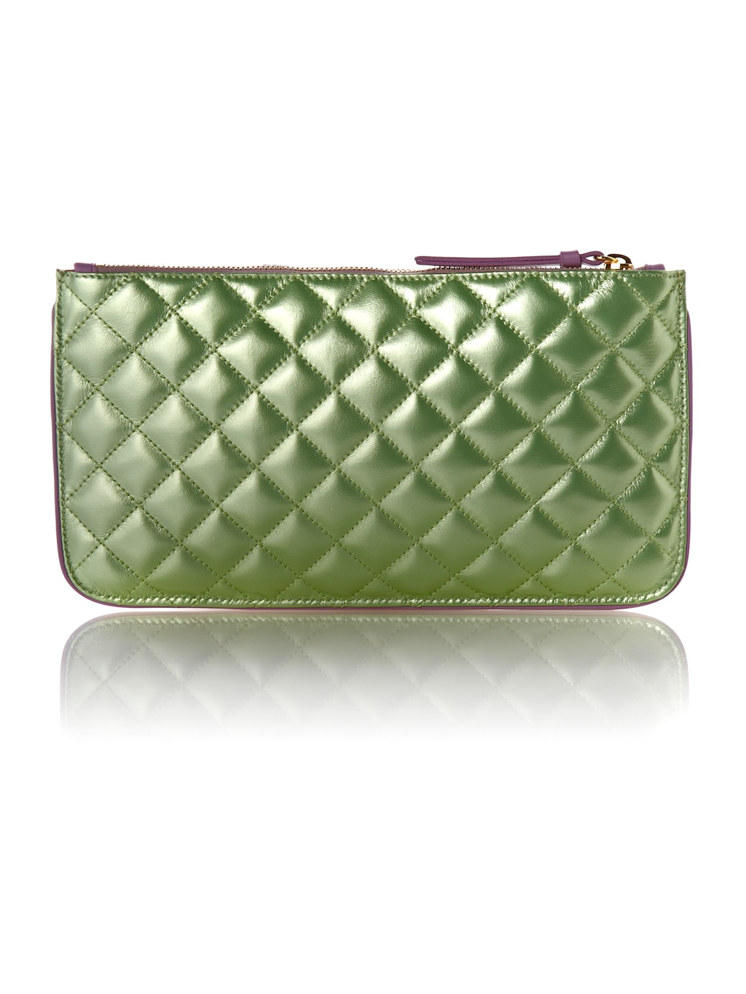 Sweet lux metallic quilted shoulder bag