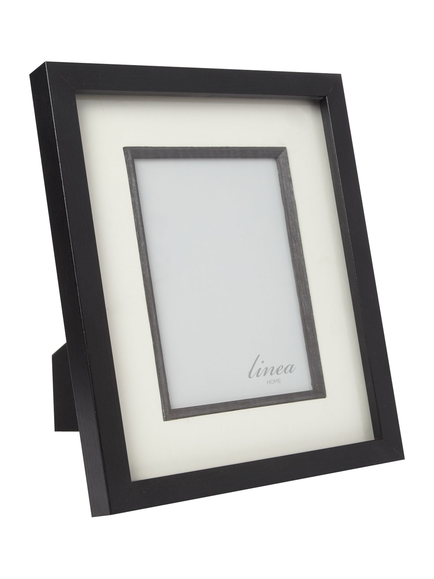 Black wood photo frame 5x7