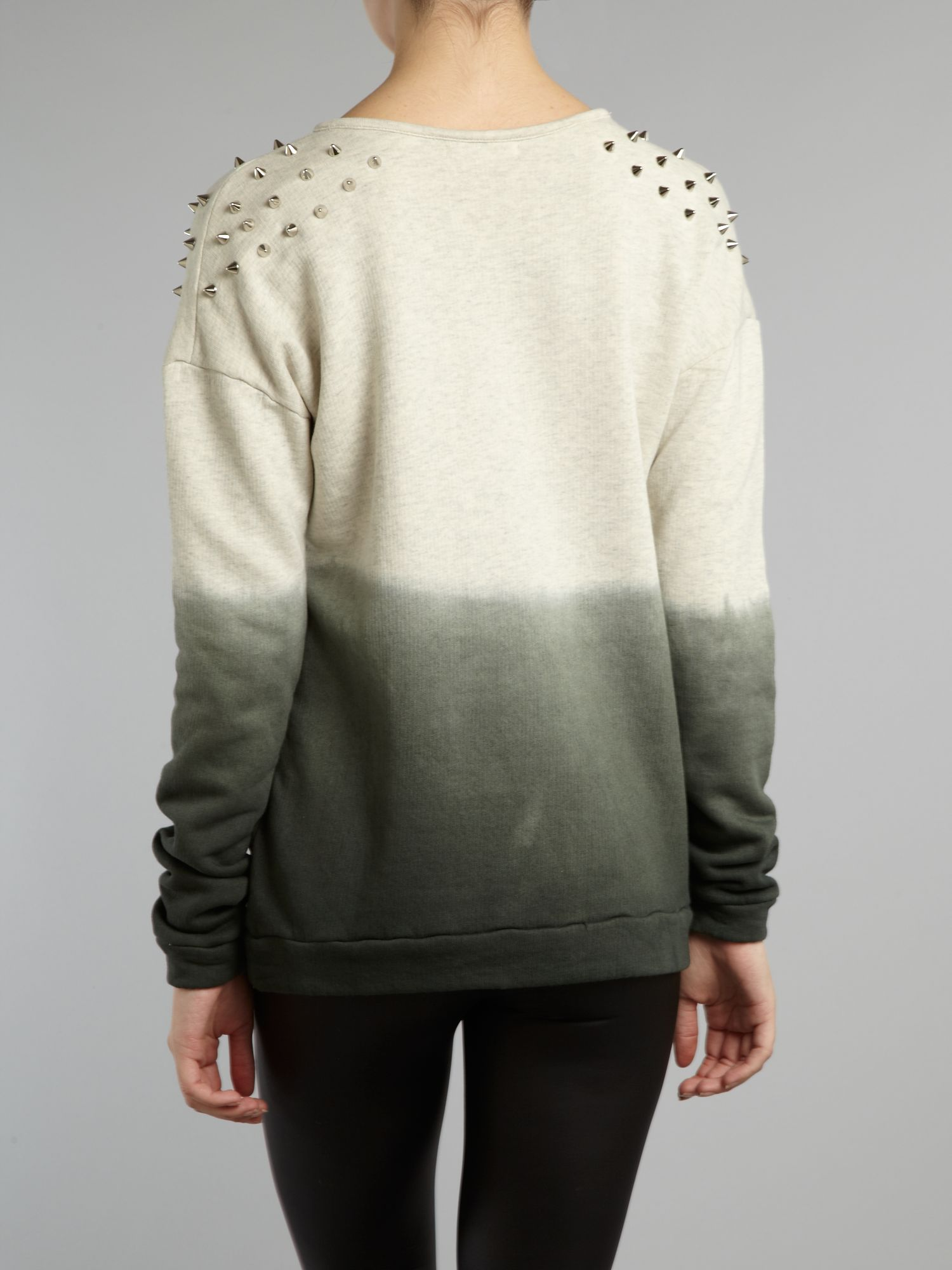 Studded ombre jumper