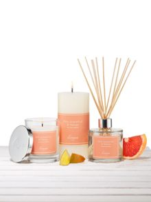 Pink grapefruit & mango jar candle - unboxed
