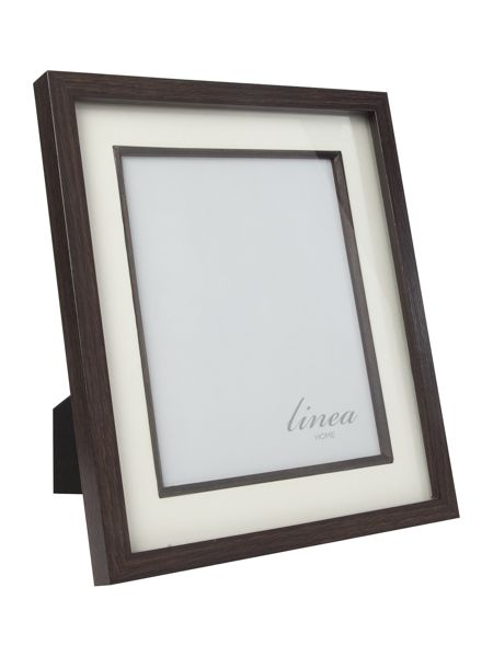 Linea Dark wood photo frame 8x10