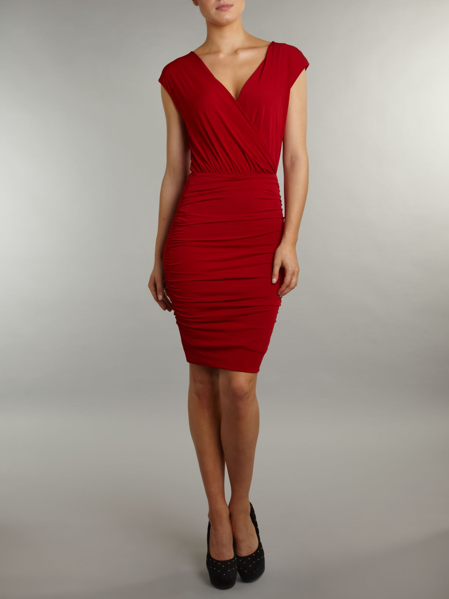 Alby v neck wrap dress