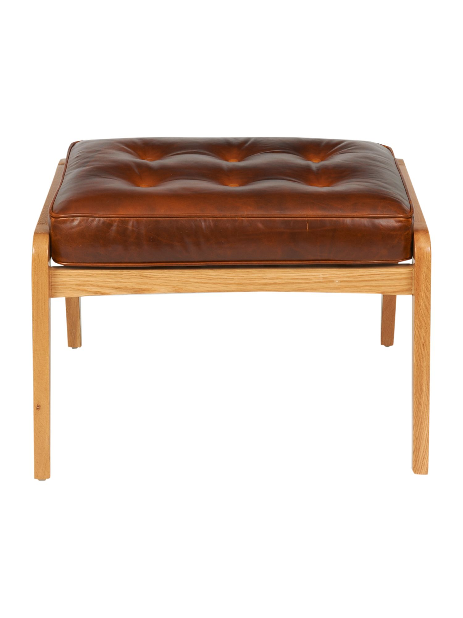 Lars footstool brown