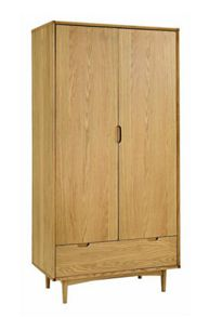 Hoxton Double Wardrobe With Drawer