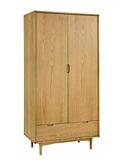 Linea Hoxton Double Wardrobe With Drawer