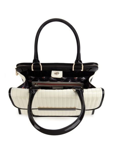 Ted Baker Ted Baker two tone enamel tote bag,tote bag with