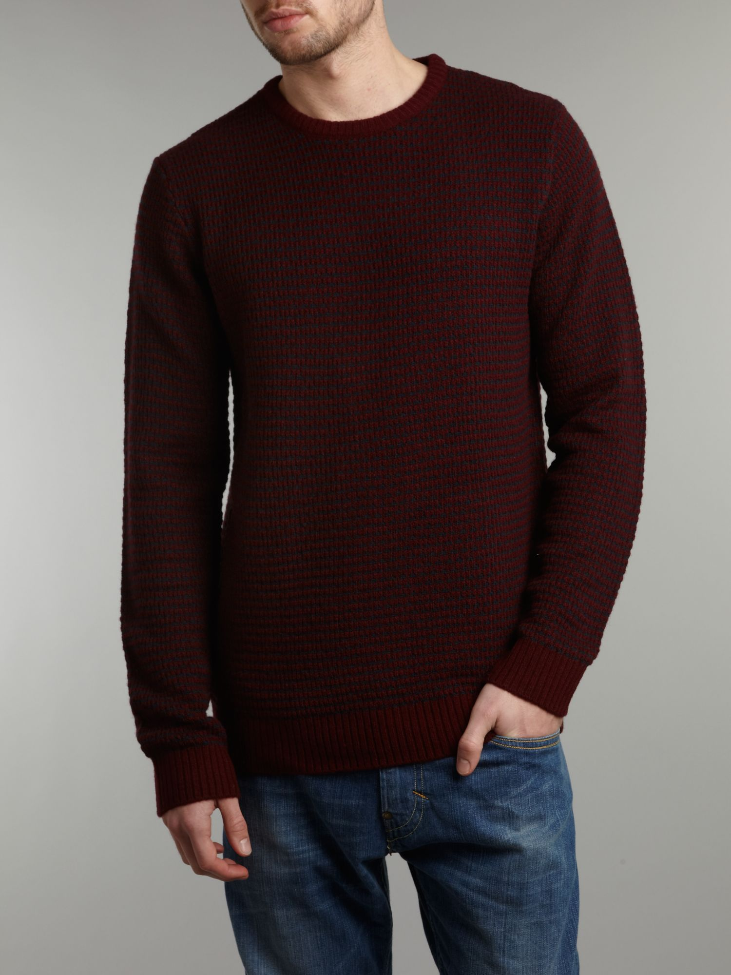 Textured fisherman`s jumper