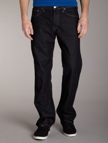 Easy fit grey weft jeans
