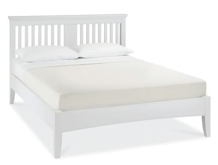 Etienne white double bedstead