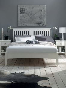 Etienne white king size bedstead