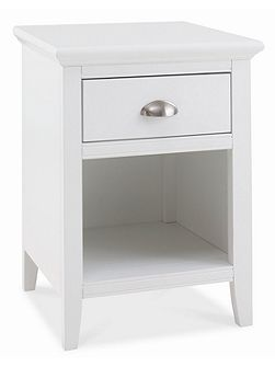 Etienne white 1 drawer bedside chest