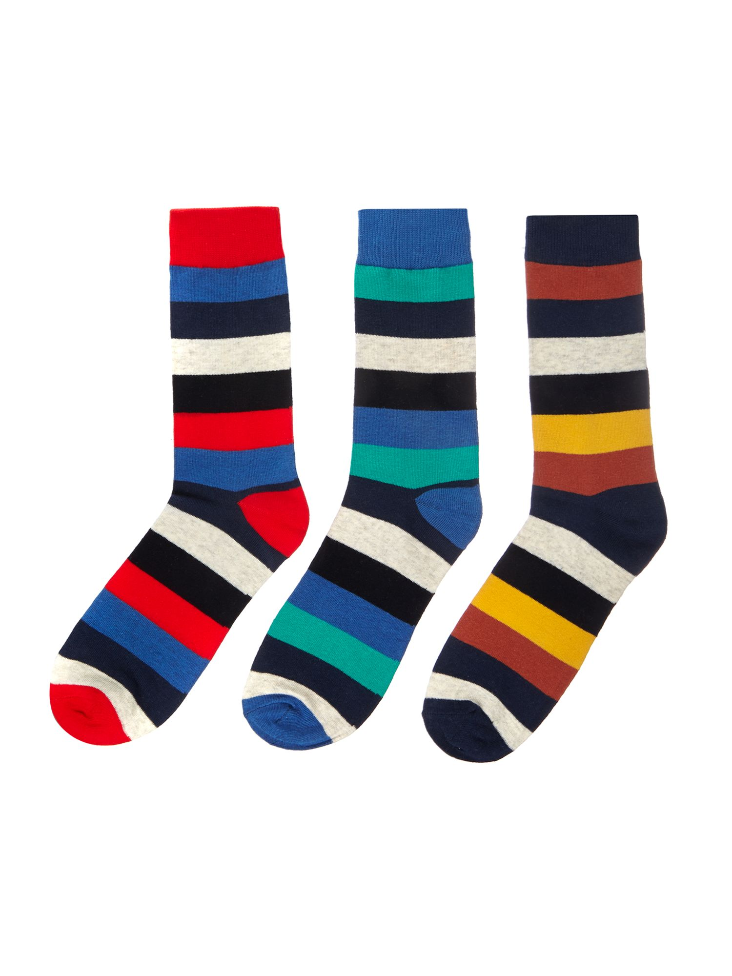 3 pack Calais stripe socks