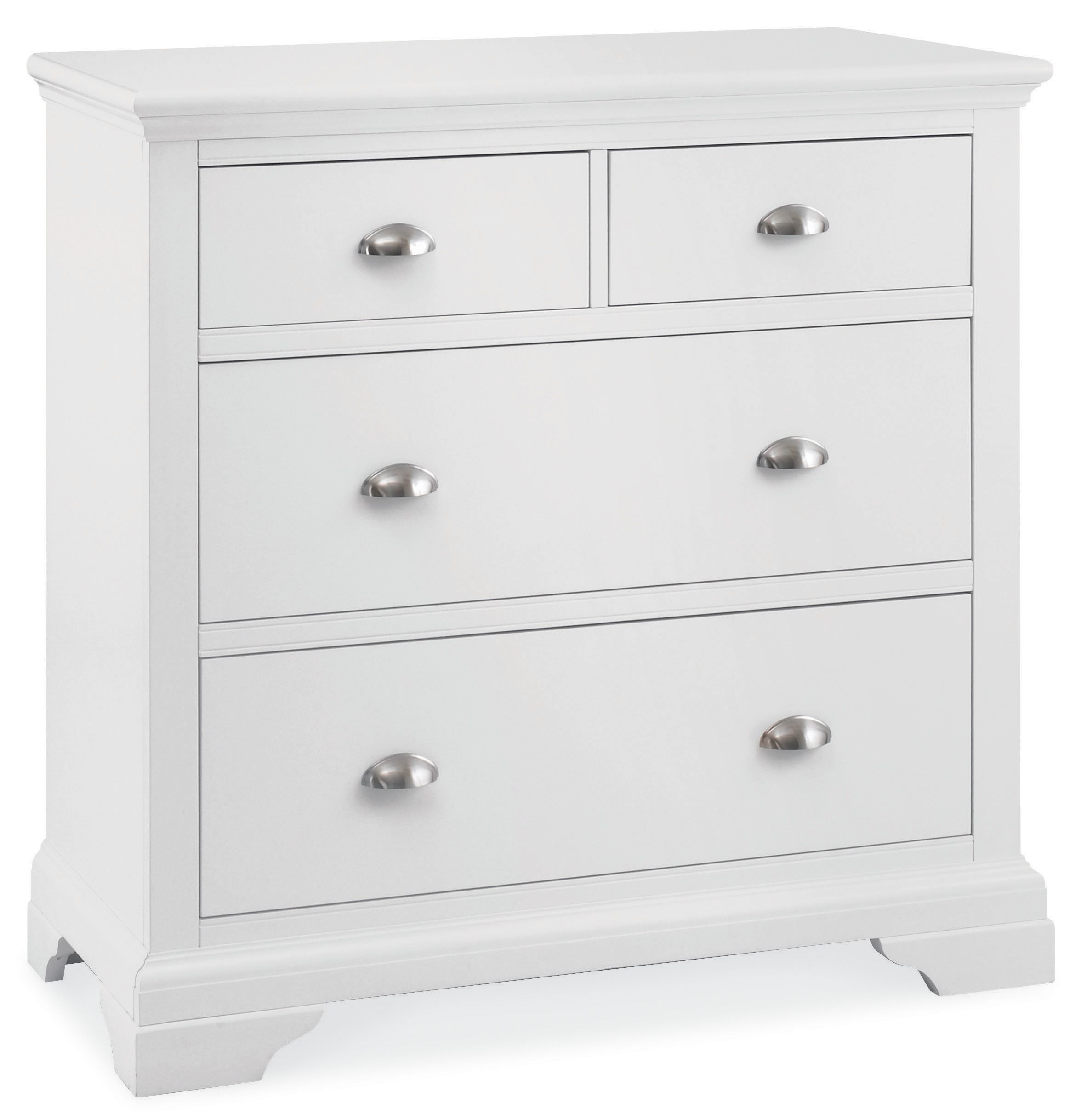 Etienne White 2+2 drawer chest