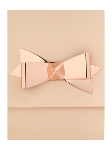 Ted Baker Bow leather clutch bag