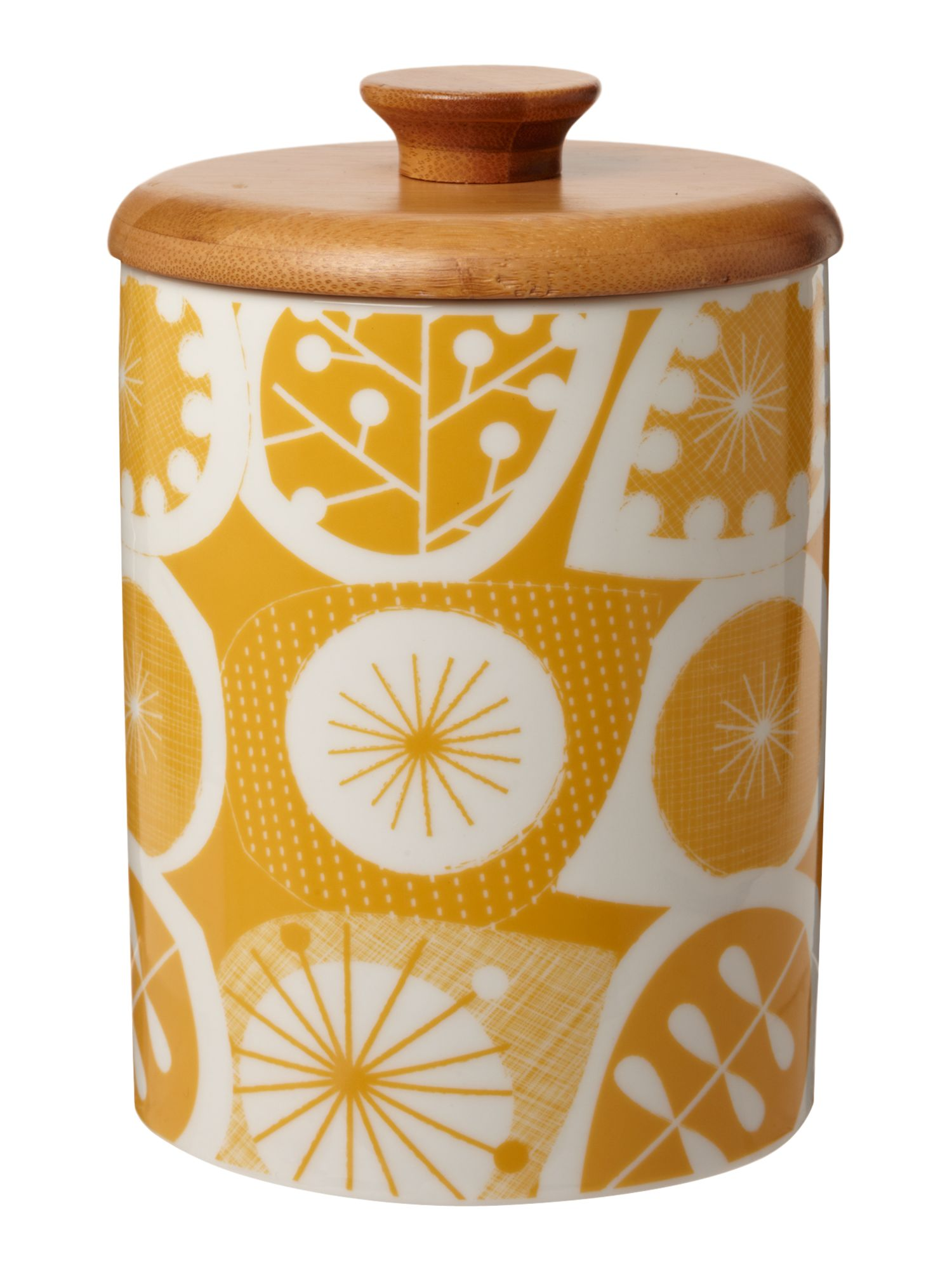 Seed pod storage jar, yellow