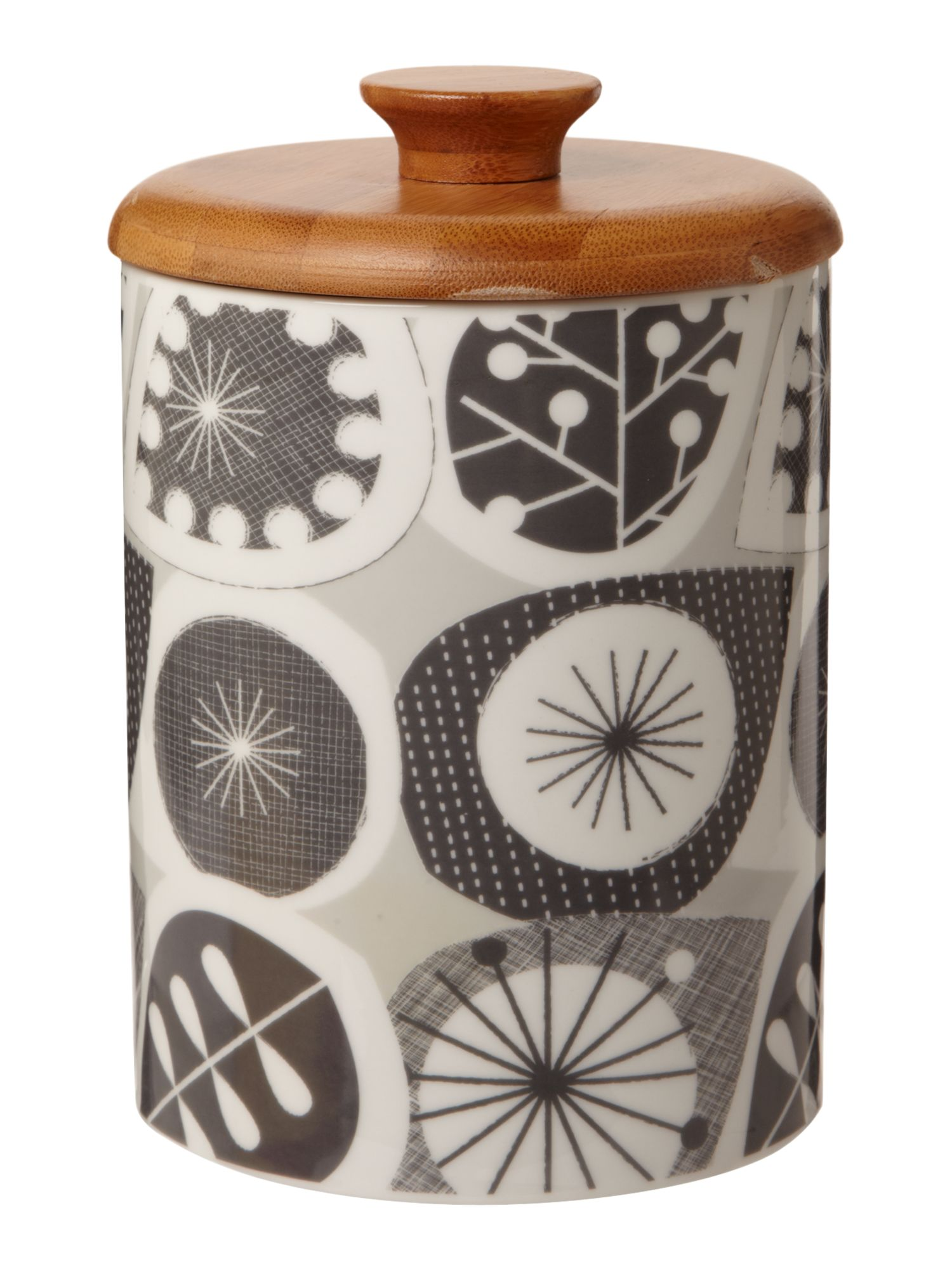 Seed pod storage jar, grey