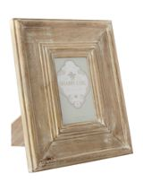 Oversized whitewashed wooden photo frame 4x6