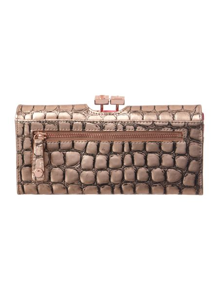 Ted Baker Croc flap over purse