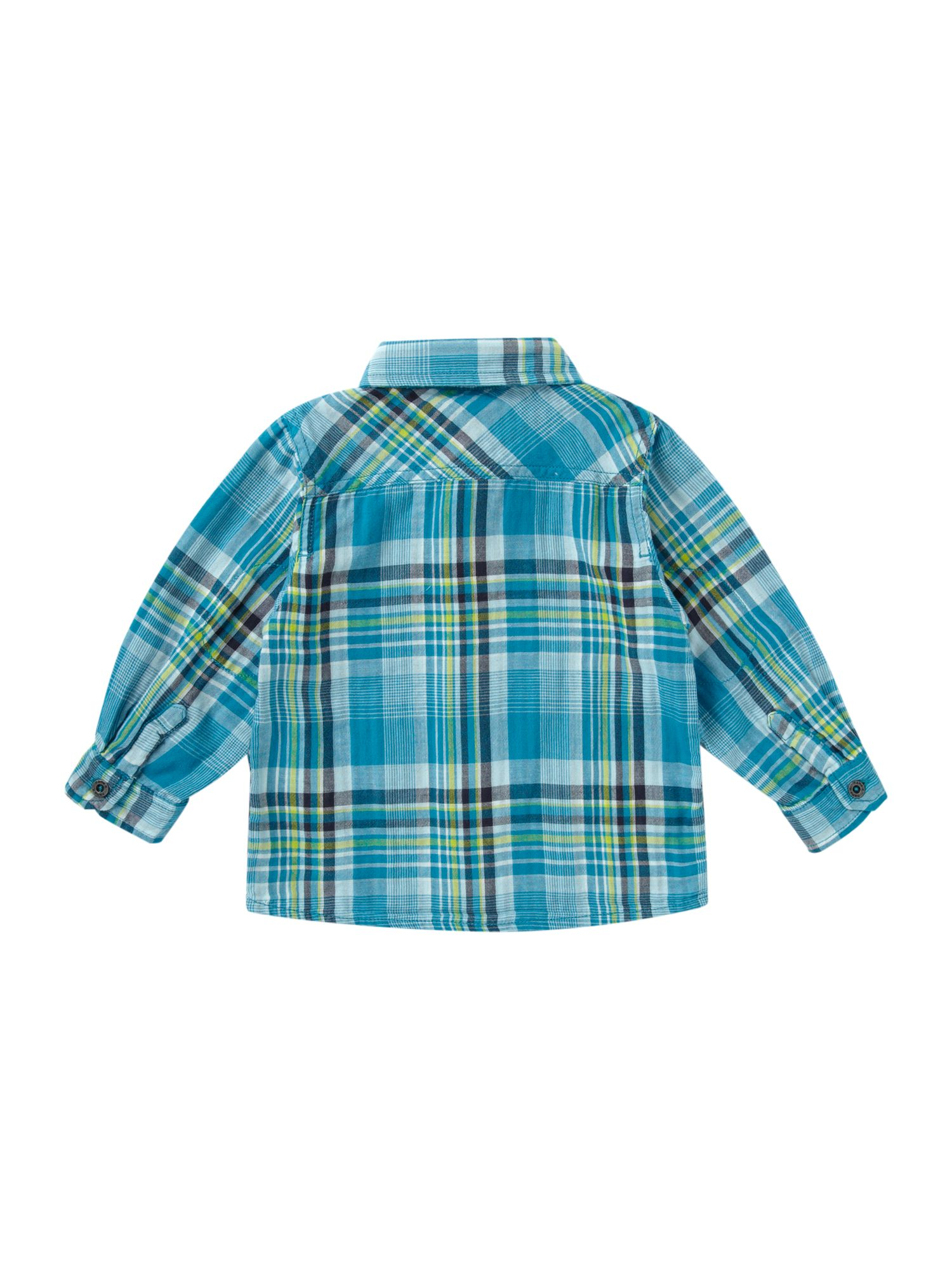Boy`s long-sleeved checked shirt
