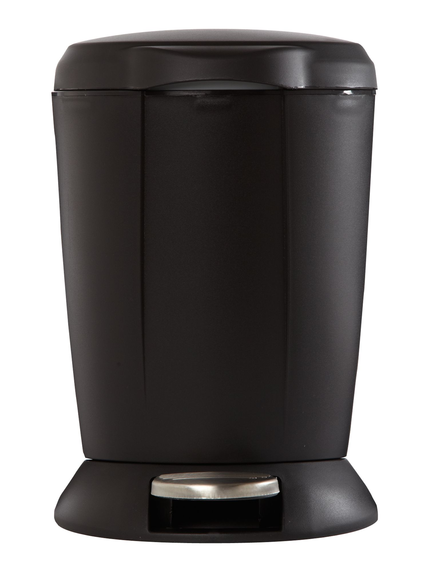 Black plastic mini step can bin 6L