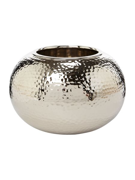 Casa Couture Hammered metal pillar candle holder