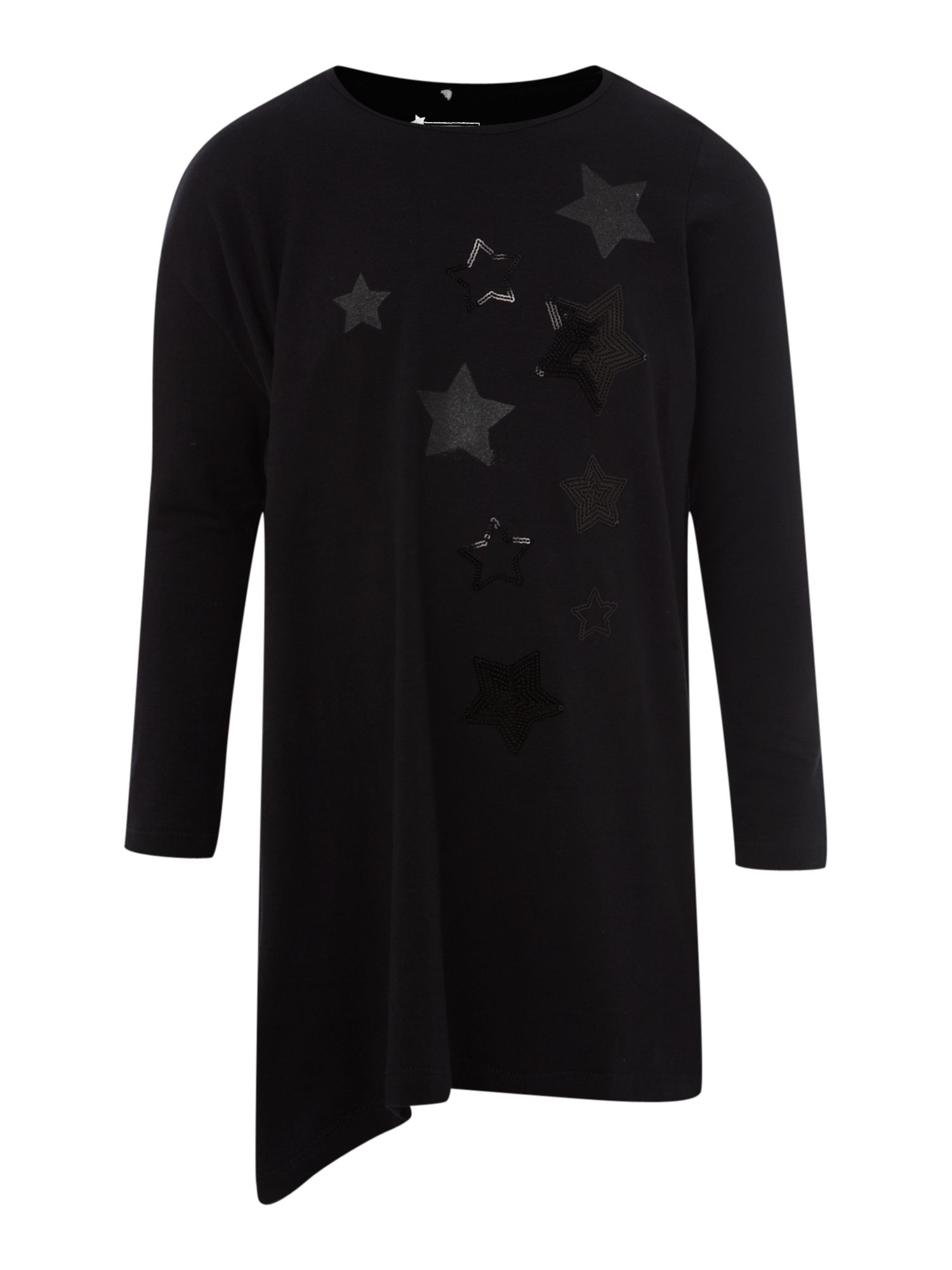 Girl`s long-sleeved star print tunic