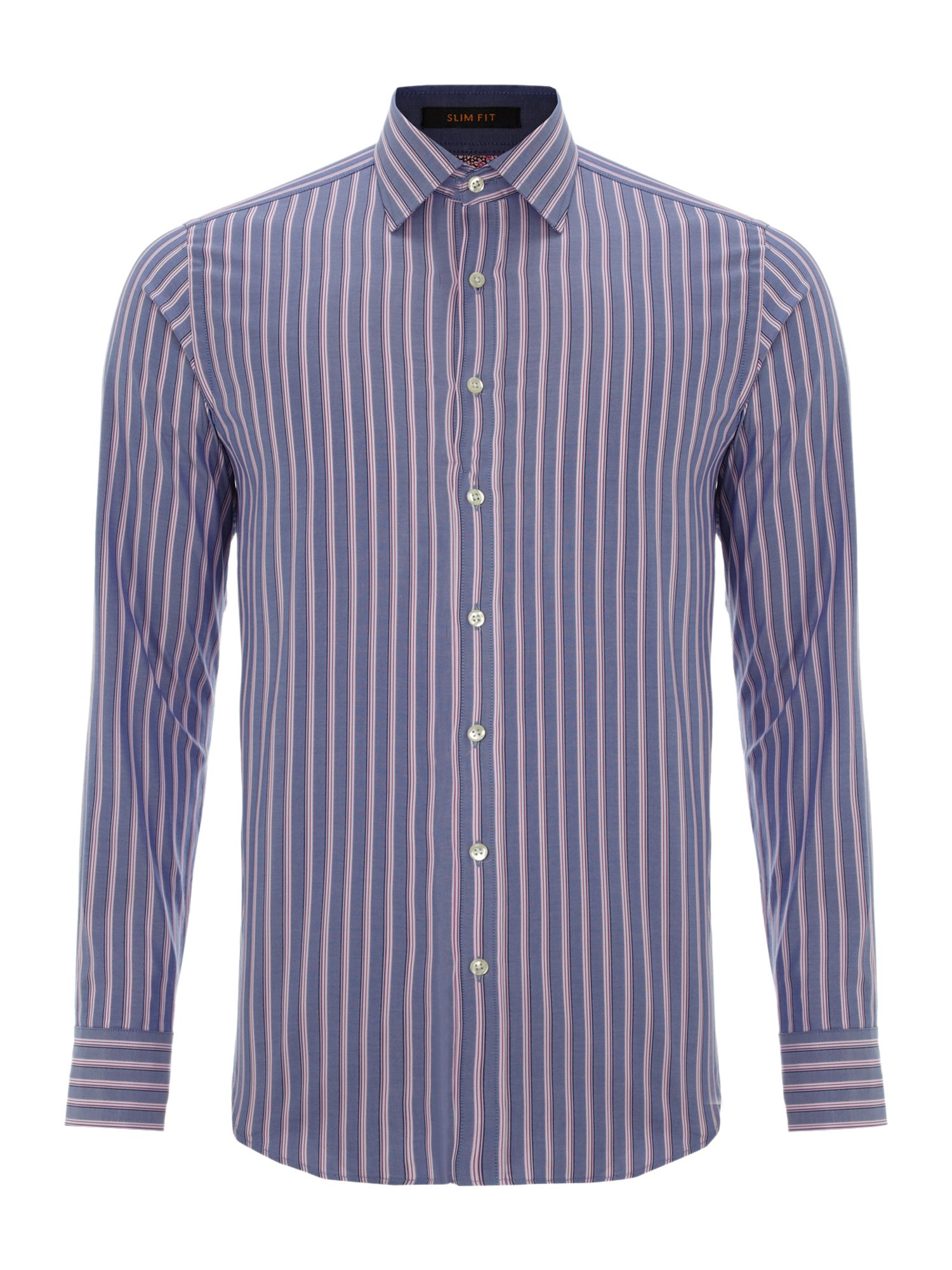 Stripe print detail shirt with 2 button cuff