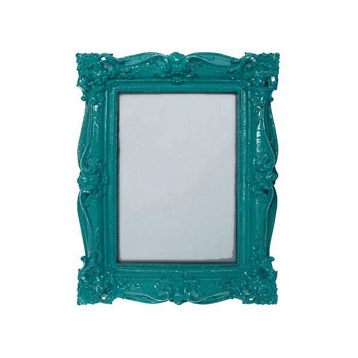 Teal baroque photo frame 5x7