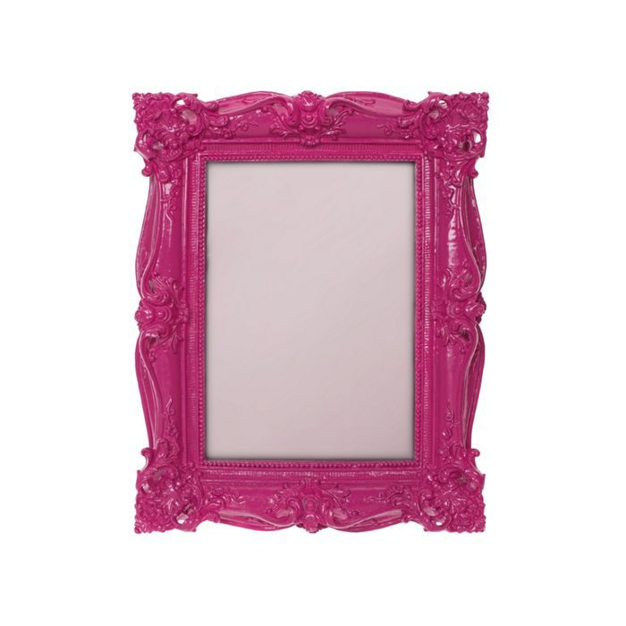 Pink baroque photo frame 5x7