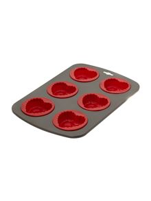 Smart Silicone Heart Shaped Baking Pan