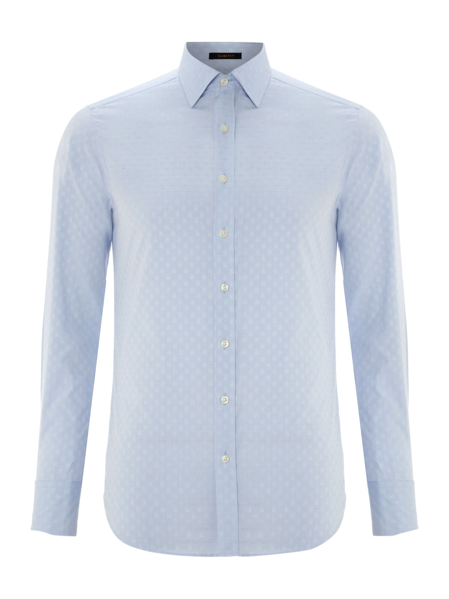 Fly jacquard 3 button cuff shirt