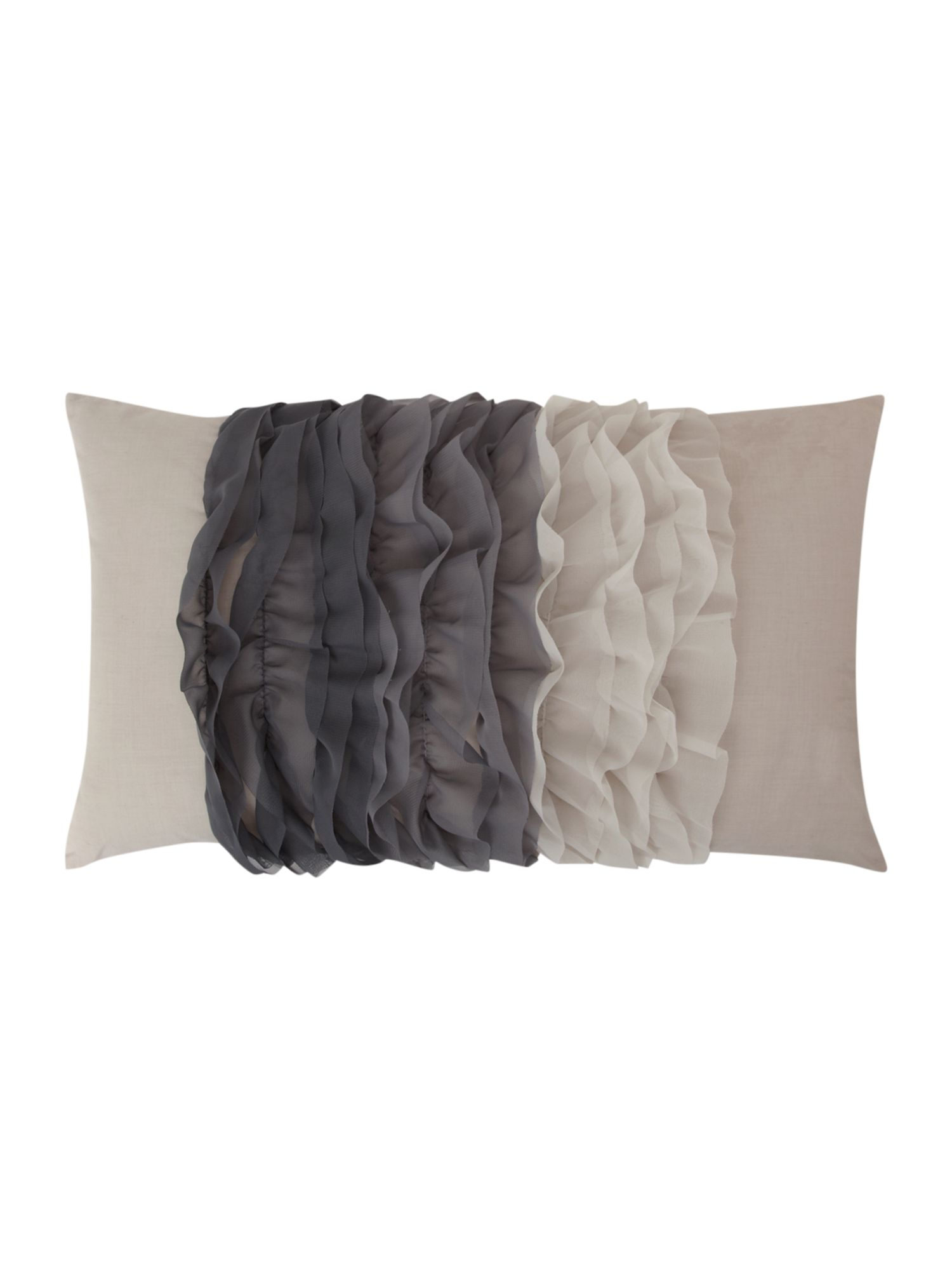 Ombre ruffle cushion