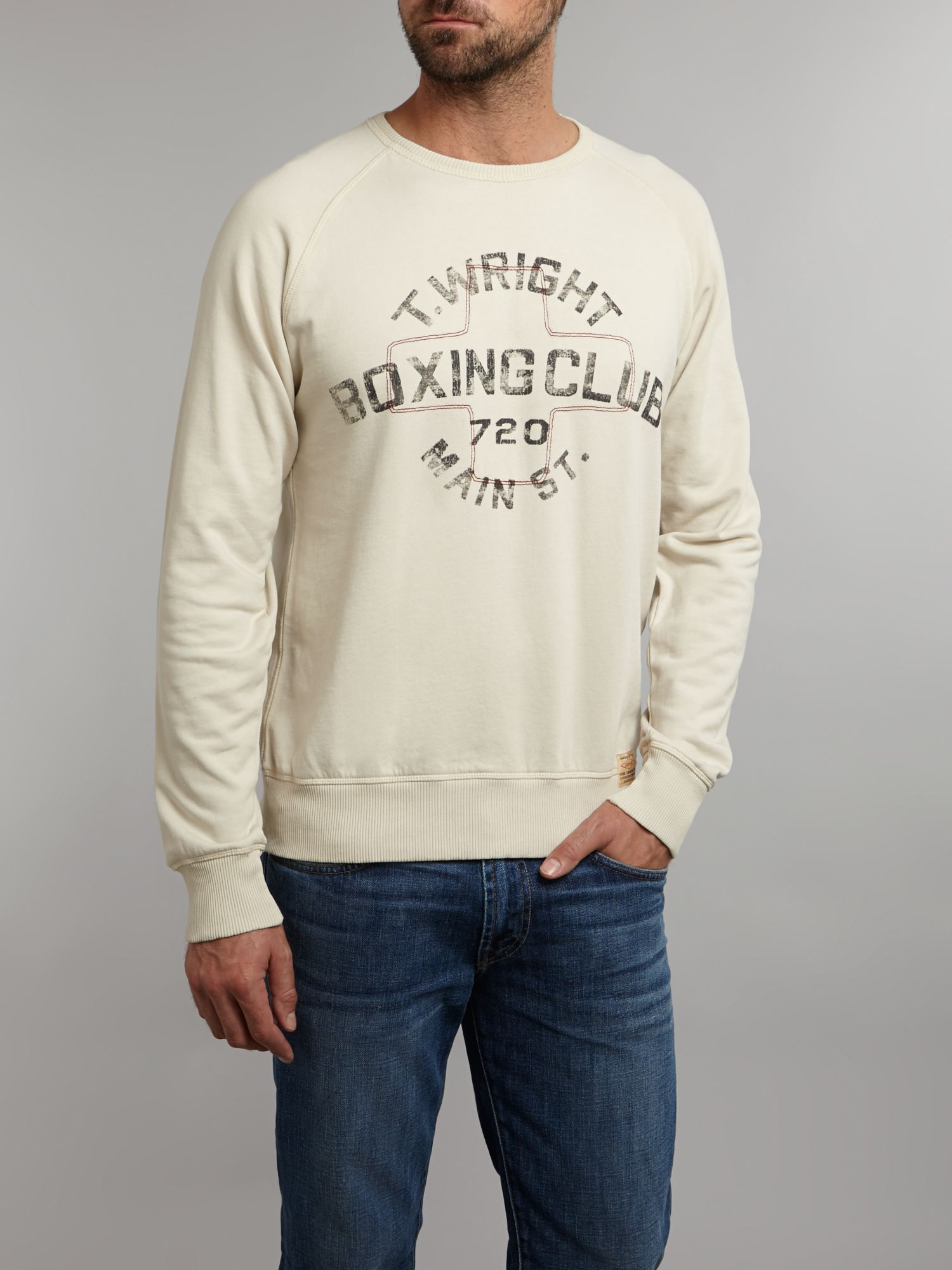 Replay boxing crew neck jumper