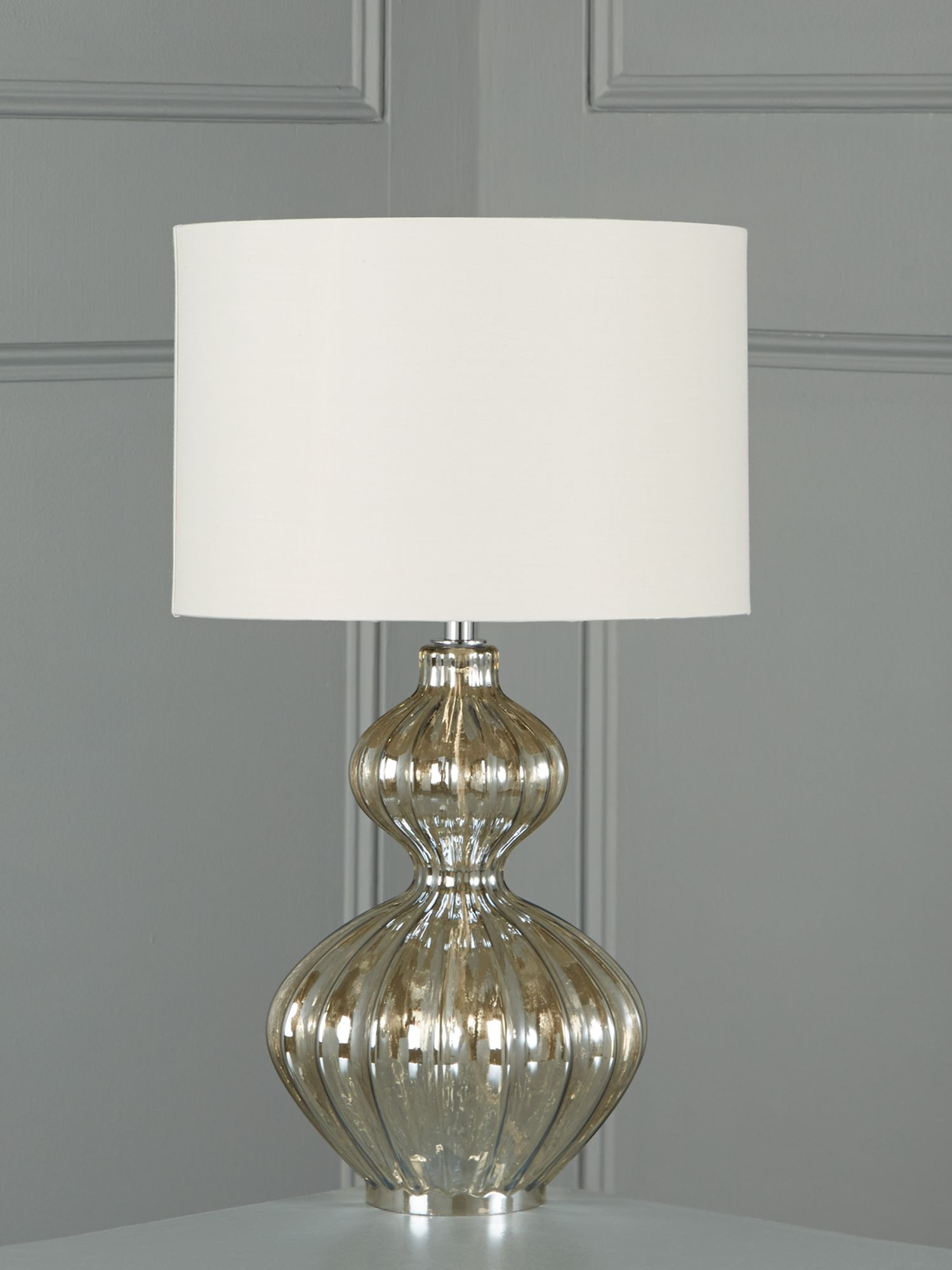 Freya ribbed glass bulb table lamp