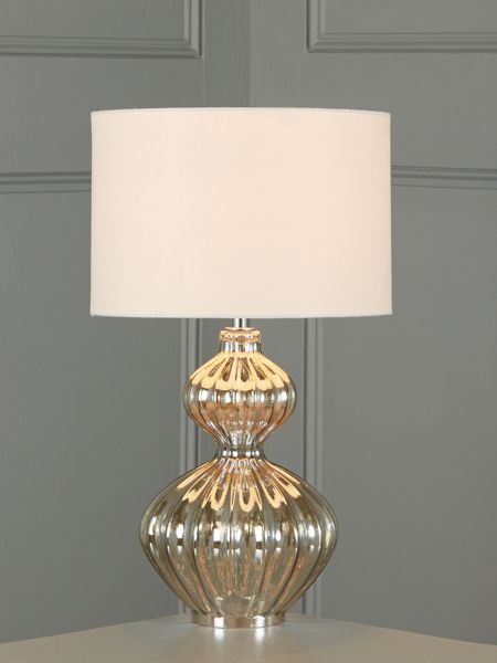 Linea Freya ribbed glass table lamp