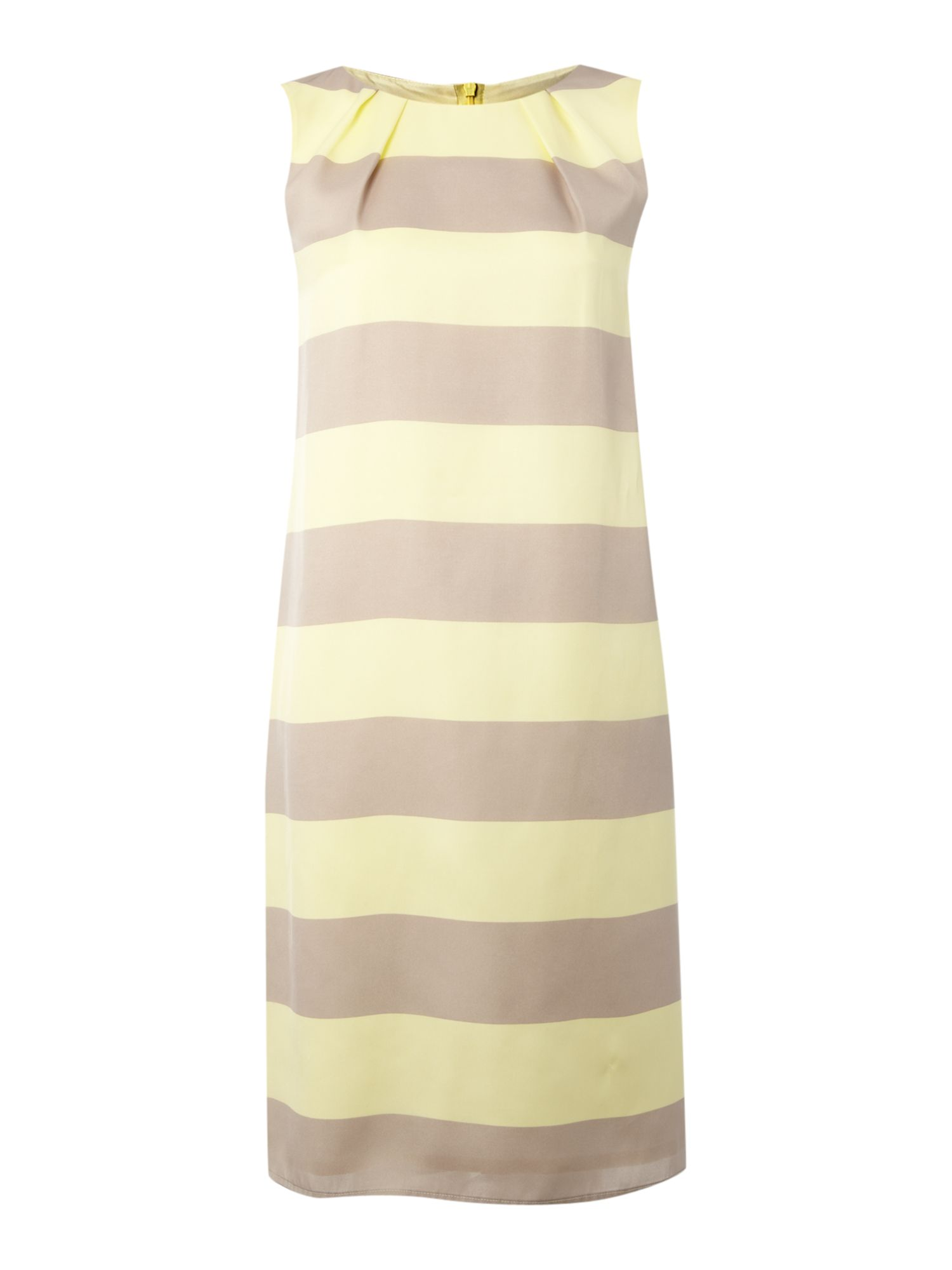 Sleeveless striped shift dress