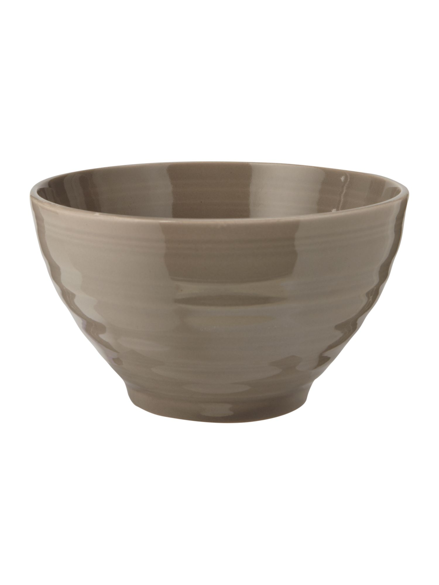 Echo beige cereal bowl