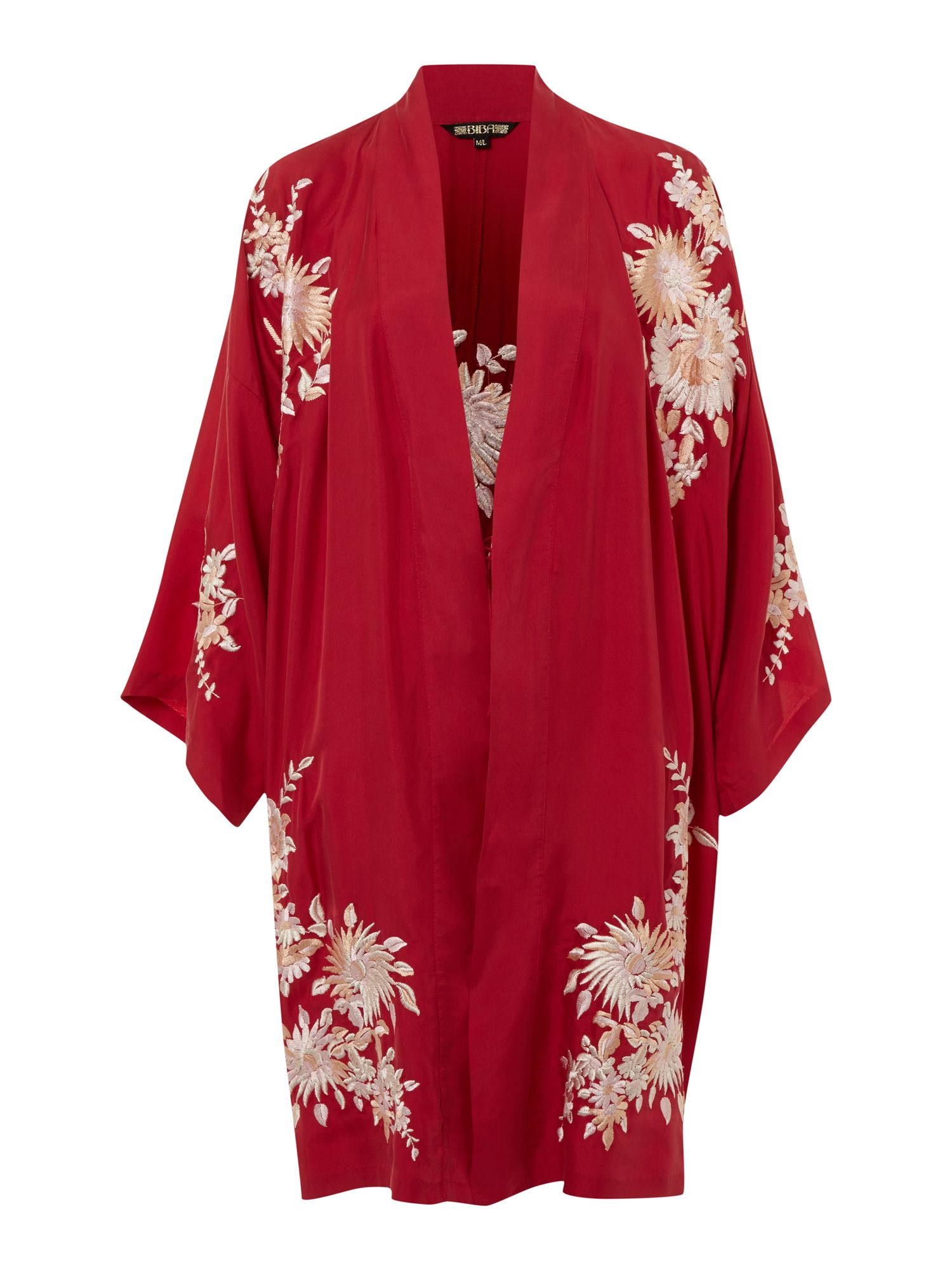 Biba Embroidered vintage robe, Red