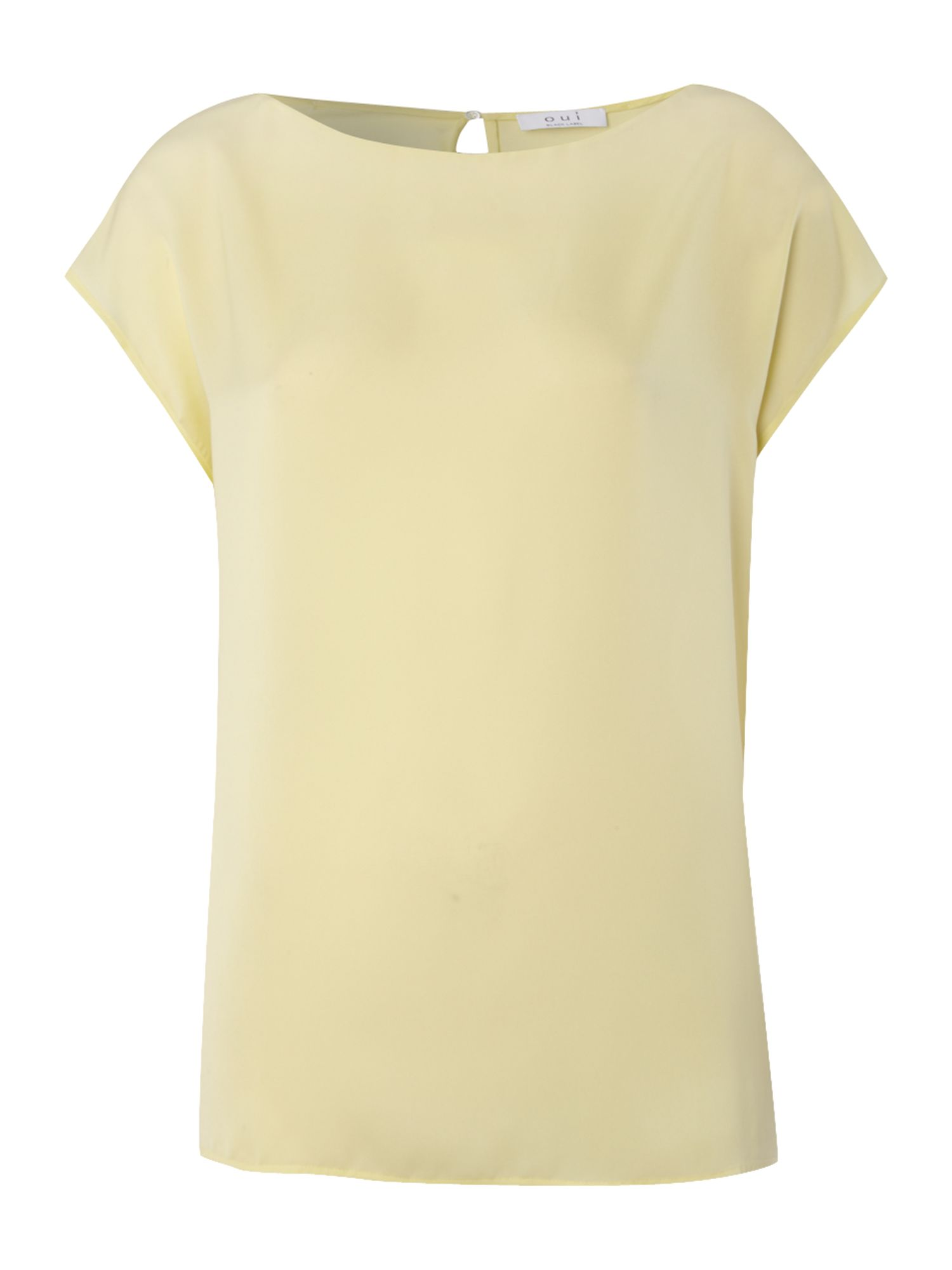 Cap sleeve silk top