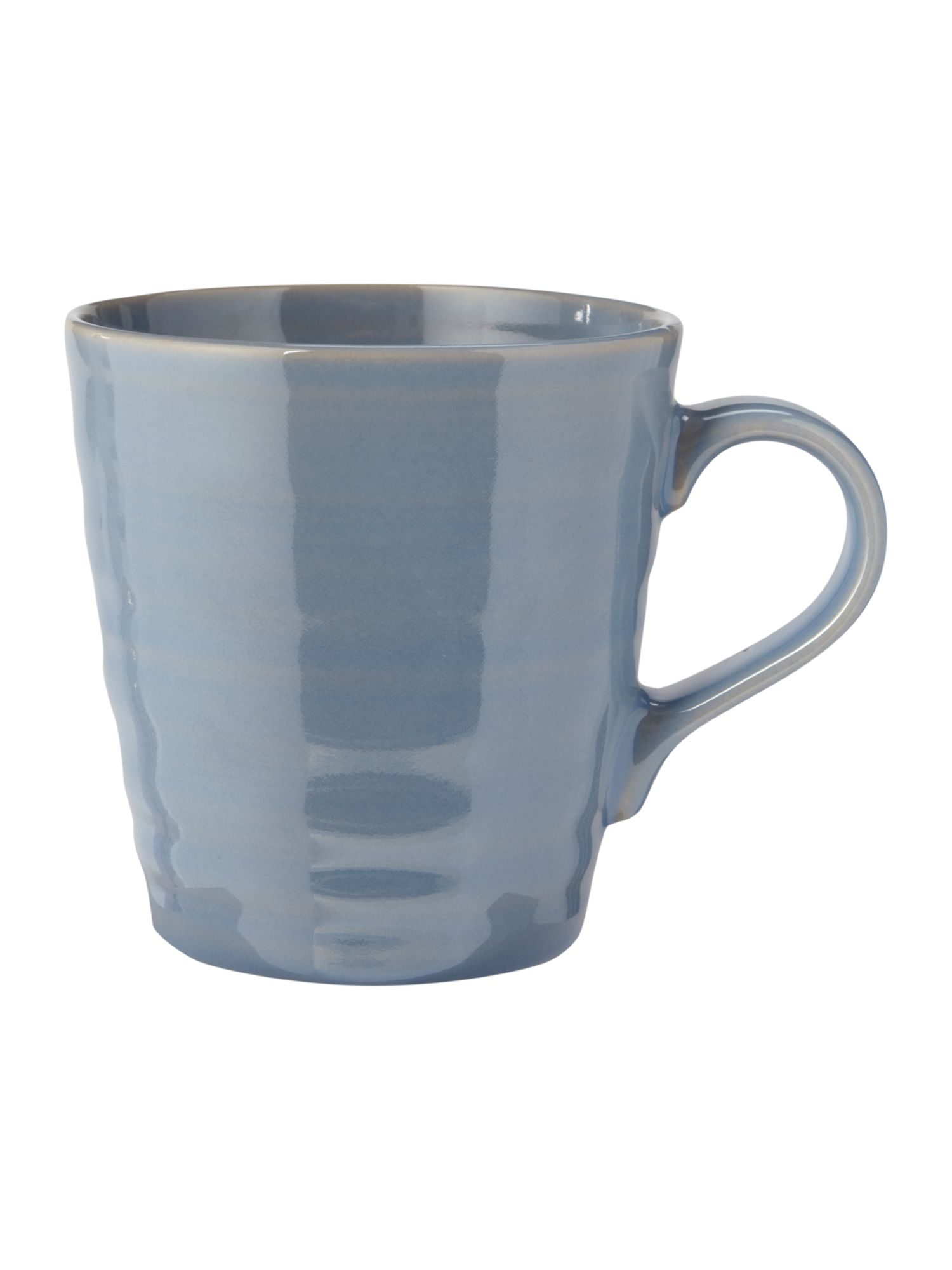 Echo blue latte mug