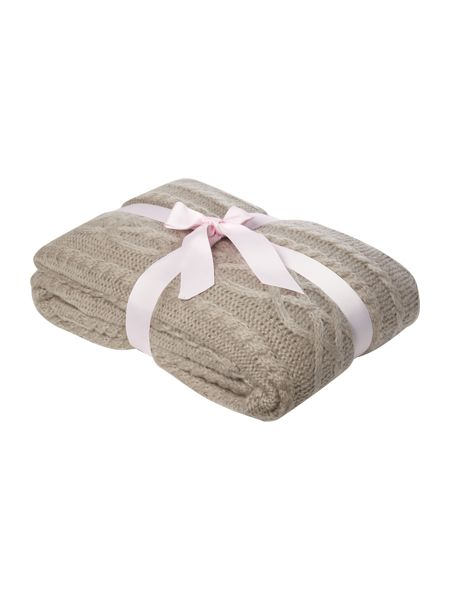 Shabby Chic Mohair effect cable knit throw