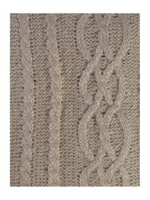 Mohair effect cable knit throw